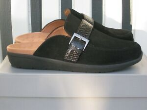 ~VIONIC 'Darla' Mules / Shoes~SIZE 8 WIDE~Black Suede~NEW IN BOX~QVC~