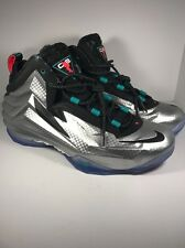 NEW Nike Chuck Posite Sz 13 Metallic Silver Black Barkley Foamposite 684758-001