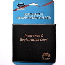 """Black AUTO CAR TRUCK INSURANCE REGISTRATION CARD HOLDER WALLET 5.25""""x4.6"""" Vinyl"""