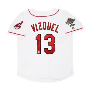 Omar Vizquel signed 1995 Cleveland Indians Home World Series Jersey PSA/DNA