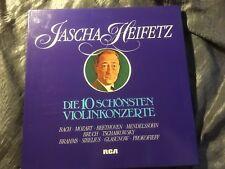 HEIFETZ Famous Violin CTOs Bach Mozart Bruch Brahms - RCA Stereo - 6LP BOX MINT