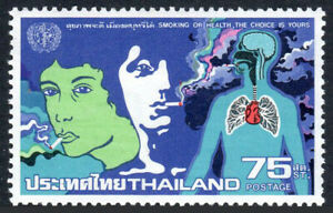 Thailand 916, MNH. World Health Day. Smokers and lungs. WHO Emblem, 1980