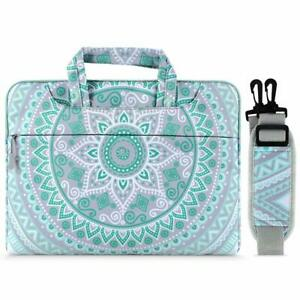 C COABALLA Laptop Bag Floral,Geometric Soft Shapes with Flower Laptop Sleeve Bag Water-Resistant Protective Case Bag Compatible with Any Notebook AM013427 13 inch//13.3 inch