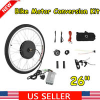 "26"" Electric Bicycle Rear Wheel 48V 1000W Ebike Hub Motor Conversion Kit US"