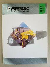Fermec 640, 650 & 660 8pg Leaflet /Brochure & 3x4pg individual spec sheets 2000