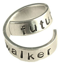 Future Walker - Walking Dead Inspired - Adjustable Twist Wrap Aluminum Ring -...
