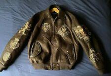 Men's vintage 90's Pelle Pelle polyester coat of arms bomber jacket size M