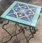 NR Signed Catalina Island Large Wrought Iron Tile Top  Table Vintage D & M?