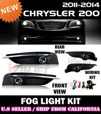11 12 13 14 CHRYSLER 200 Fog Light Driving Lamp Kit w/ switch wiring (CLEAR)