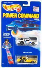Vintage Hot Wheels Power Command Racers 2 Pack White & Yellow New On Card 1989