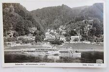 27327 Foto AK Sächsische Schweiz Schmilka Luxus Dampfer Leipzig Elbe 1935