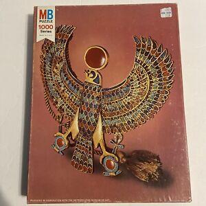 1000 Piece MB Milton Bradley Puzzle 1978 King Tut Falcon Pectoral MOMA Complete
