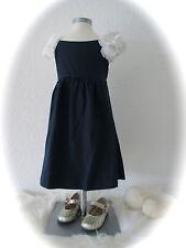 °il gufo° traumhaftes Kleid dunkelblau + 3D Blumen an den Schultern 4A 104 NEU