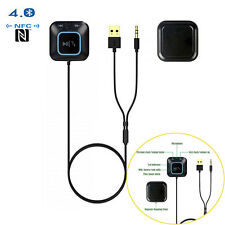 3.5mm Bluetooth Receiver Hands-free Car Kit Wireless Audio Adapter NFC Music