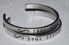 Soul Sisters Set   Engraved, Polished Bracelet + Gift Bag