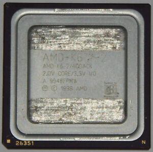 AMD K6-2 400 MHZ 400ACK 4 x 100 MHZ 6 x 66 MHZ Processeur CPU Core 2,2V Socle 7