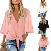 Women Short Sleeve Loose T Shirts Ladies Summer Casual Blouse Tops Shirt