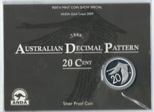 2009 AUSTRALIAN DECIMAL PATTERN 20c SILVER PROOF UNCIRC. COIN -ANDA & PERTH
