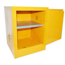 4 Gallon Yellow Safety Storage Cabinet Manual Close Welded Flammable Liquid New