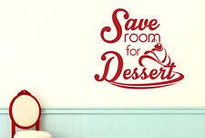 Save Room For Dessert Vinilo Pegatinas De Pared Adhesivo Decoración