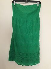 OLD NAVY GREEN LACE DRESS SIZE 10 EVENING COCKTAIL WEDDING WOMEN
