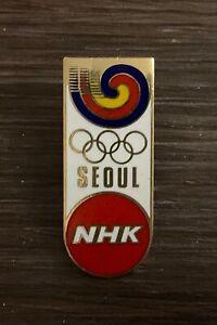 Seoul 1988  NHK Japan media pin