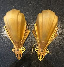 original art deco wall sconces slip shade JC Virden Rayburn.