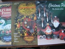 3 ART BOOKS JACKIE COLE COUNTRY LOVE CHRISTMAS PIE LI'L BIT OF FRENCH