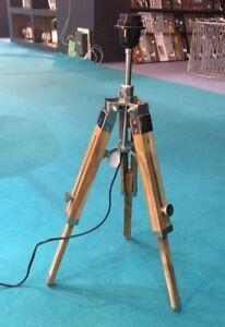 Mini Tischlampe Wohnkultur Naturholz Lampe Nickel-Finish Stativ Lampe Wohnkultur