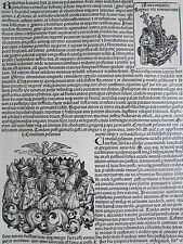 Incunable Leaf Schedel Liber Chronicorum Council Pisa - 1493