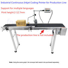 Industrial Continuous Inkjet Coding Printer For Production line height 2-12.7mm