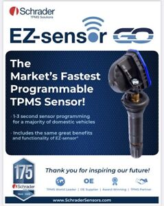 Schrader 33560 TPMS Dual Frequency EZ Sensor Snap In Valve Stem Replaces 33500