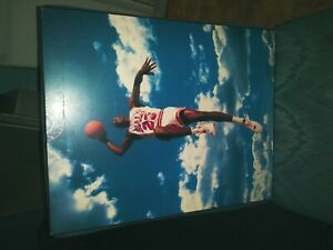 Michael Jordan vintage Nike NBA wooden poster