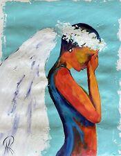 MARINA REHRMANN Original Nude Beautiful Angel Wings Contemporary Art COA Gall