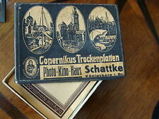 Glasnegative Königsberg Schattke Schachtel Karton Fotoglasplatten Ostpreußen rar