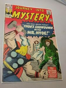 JOURNEY INTO MYSTERY #100 - Thor vs. Mr. Hyde (Marvel, 1964) Great Kirby Art