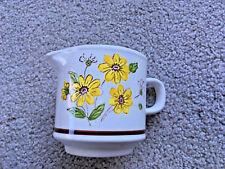 VINTAGE Creamer LURASTONE 1530 FIESTA flowers gravy boat Handle daisy MUG
