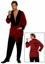 Adult Playboy Smoking Jacket Casanova Hugh Hefner Costume Robe - Fast Ship -