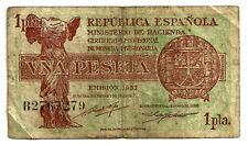 BILLETE DE 1 PESETA DE 1937 (RC) (SERIE B)
