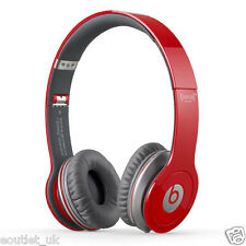 Dr. Dre Beats Solo HD Red Headband Headphones DJ Non Mic Type Genuine NEW