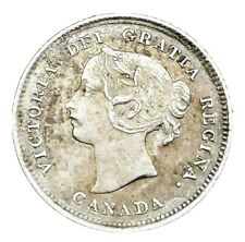 More details for canada 1898 ultra scarce 5 cents victoria gef sterling silver coin 580k mintage