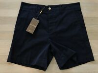 550$ Gucci Navy Blue Cotton Shorts Size US 36 Made in Italy