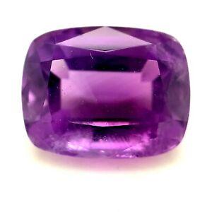 4.65ct Purple Amethyst Stone, Cushion, VS, Brazil Natural Gemstone *Video*