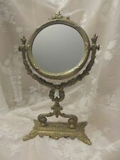 "Vintage Ornate Victorian Style  Swivel Free Standing Vanity Mirror 12.5"""