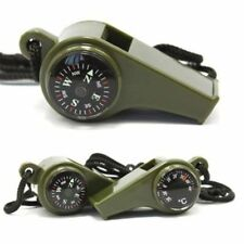 New 3 in1 Emergency Survival Gear Camping Hiking Whistle Compass Thermometer