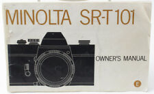 Genuine Minolta SRT-101 Instruction Manual plus accessories guide book