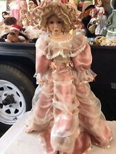COLLECTIBLE DOLL ASHLEY BELLE PORCELAIN WITH STAND