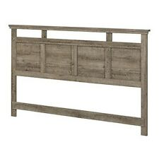 South Shore 10608 Versa King Headboard 78 In - Weathered Oak NEW