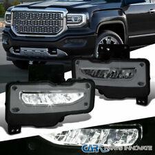 For GMC 16-18 Sierra 1500 Smoke Lens LED Fog Lights Driving Bumper Lamps+Switch