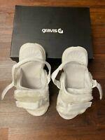 Authentic UO GRAVIS Men's White Sherpa Slippers/Slides/Slip-On ~ PRE-OWNED